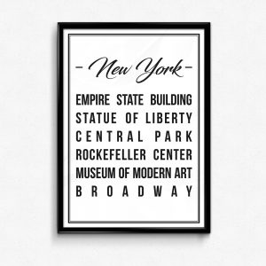 Places of new york poster