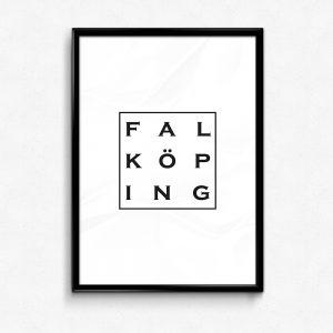 Falköping poster affisch typografi