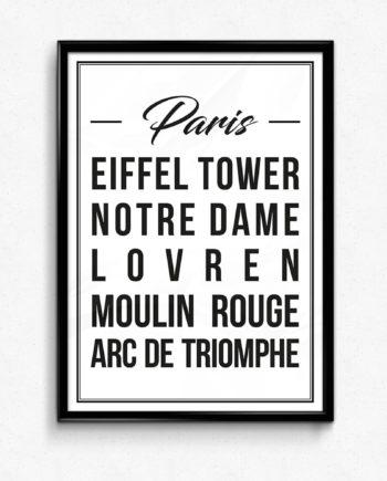 paris poster affisch