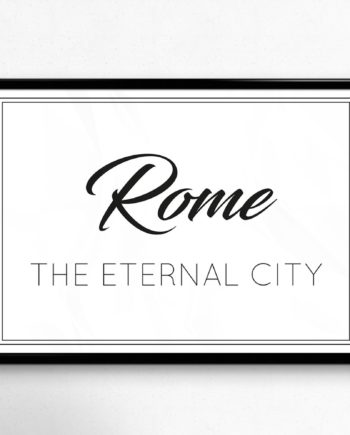 The Eternal City of Rome poster