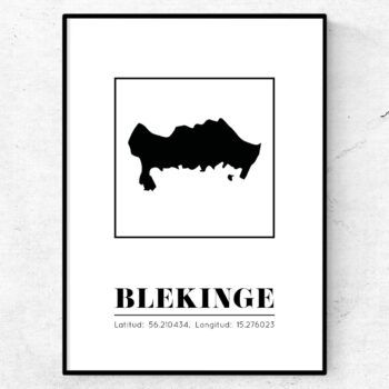blekinge poster tavla landskap