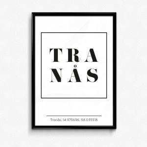 Tranås poster tavla designad av Emil Lindström