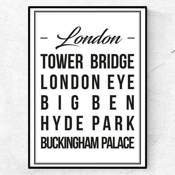 london poster tavla