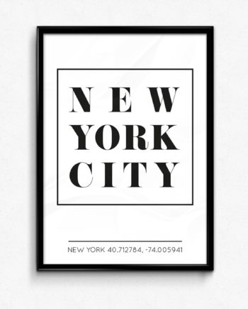 New York Poster tavla