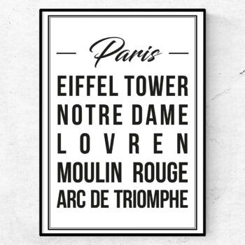 paris poster affisch tavla