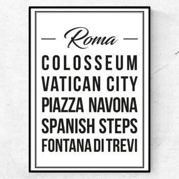 rom poster tavla