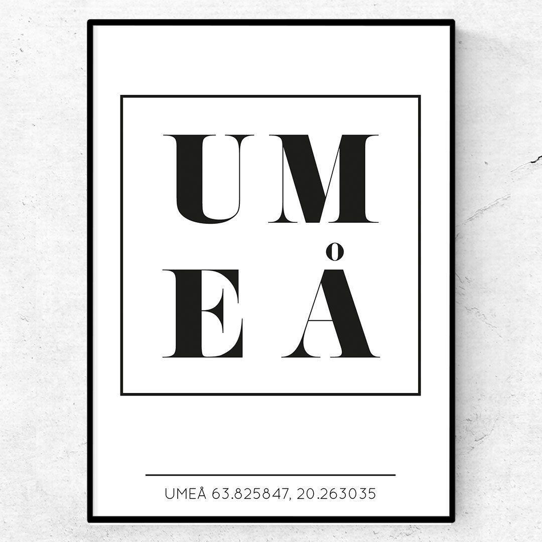 Fantastisk Umeå poster / tavla med text   Text & Art MQ-42
