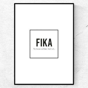 fika poster tavla lexikon