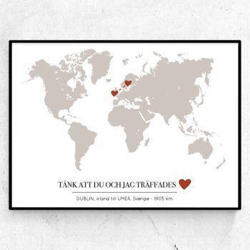 kärlekskartan världen love map world hearts kärlek
