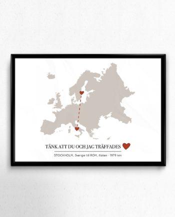 Karlekskartan europa