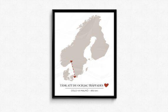 karlekskartan skandinavien norden