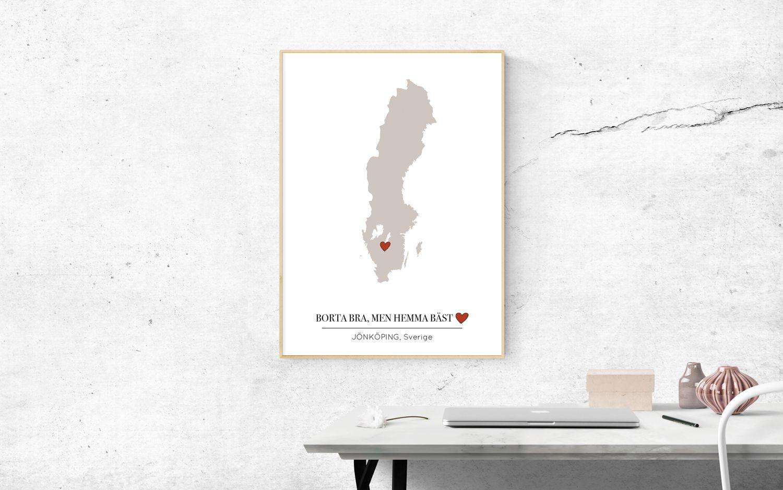 Sverigekartan poster med din hemstad text art hem produkter stadsposters med stder snygga affischer med stder sverigekartan altavistaventures Choice Image
