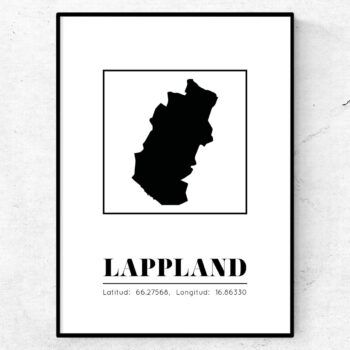 lappland poster tavla landskap
