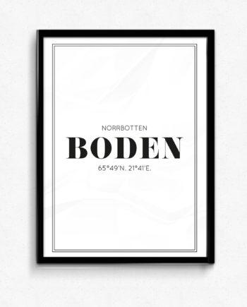 Boden poster