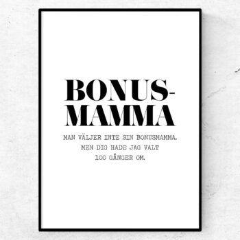 bonusmamma poster present