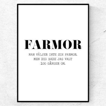 farmor poster tavla present