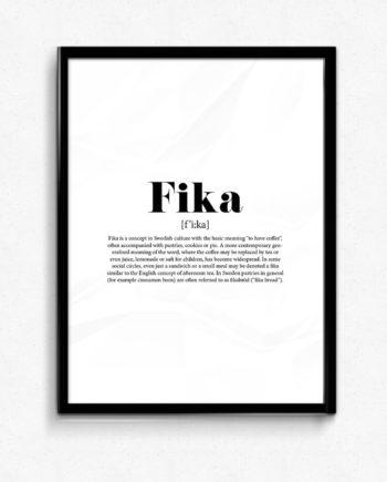 fika poster med snygg design