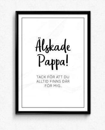 Älskade pappa poster
