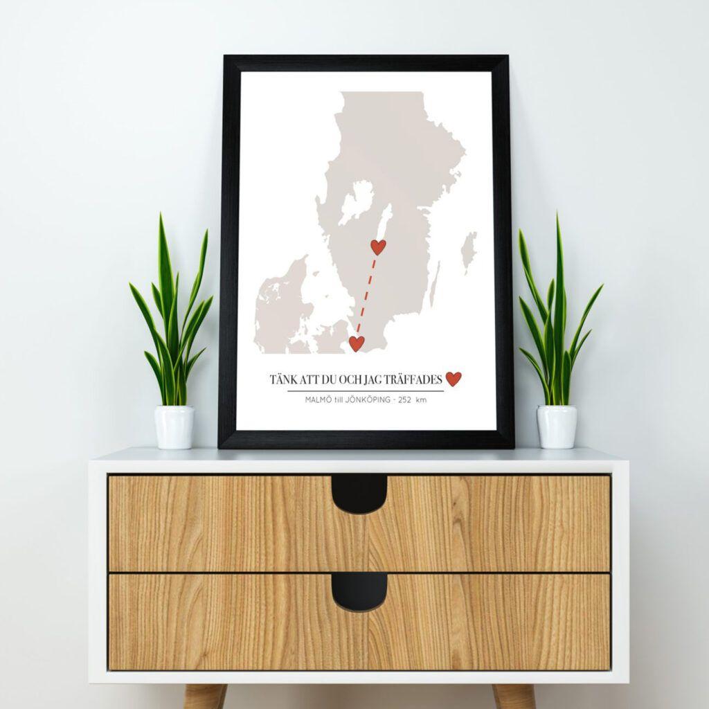 Kärlekskartan Södra Sverige