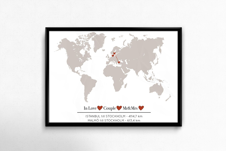 Kärlekskarta världen