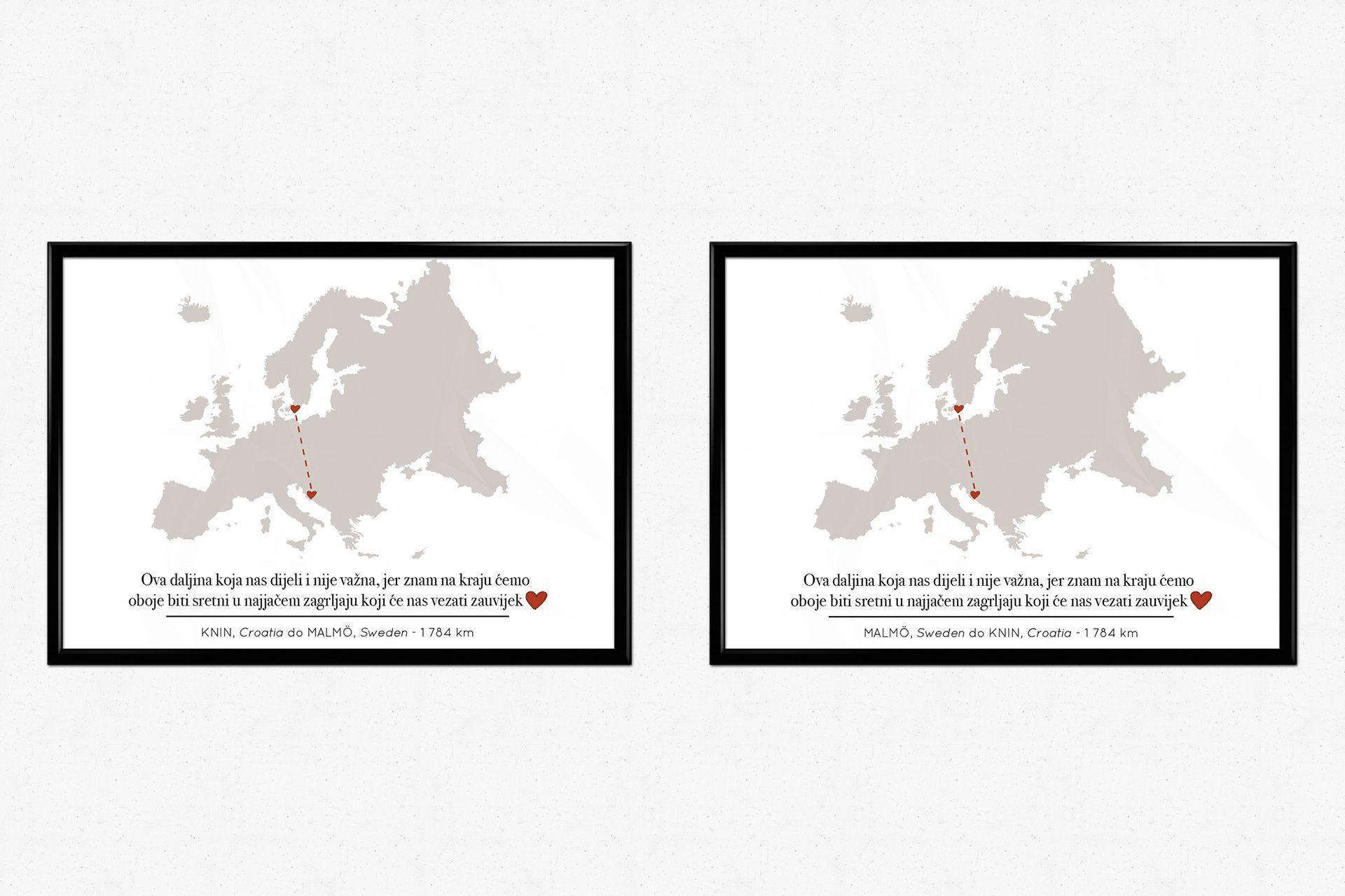 kroatien kärlekskarta