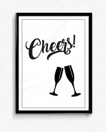 cheers - poster för bar och kök