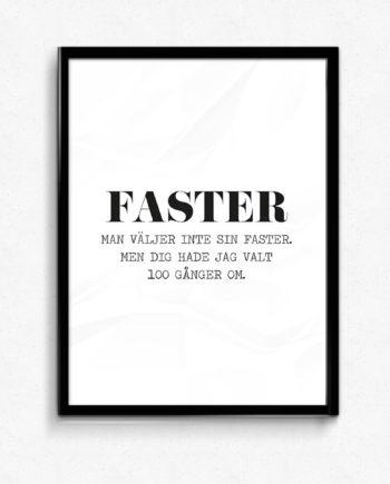 faster poster tavla