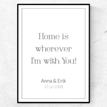 Home is wherever I'm with you poster