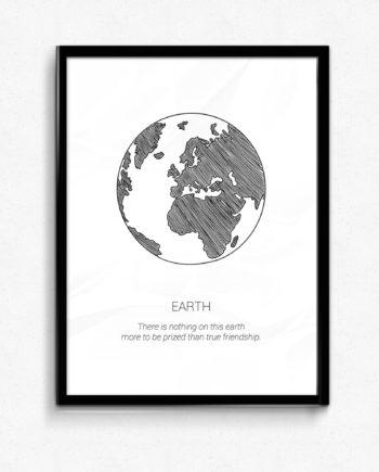 Earth jorden jordglob poster tavla
