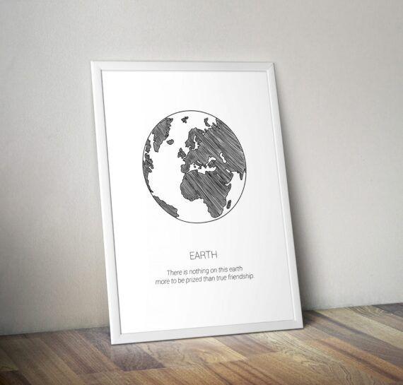 earth poster tavla