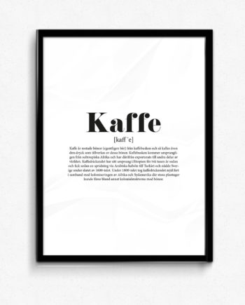 kaffe poster tavla