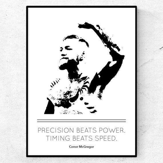 Conor McGregor citat tavla poster