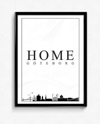 Göteborg skyline poster