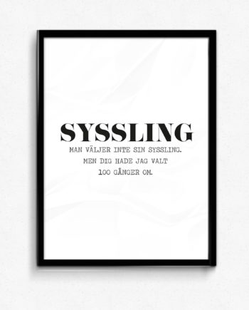 syssling poster