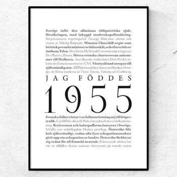 årtalsposter 1955 poster