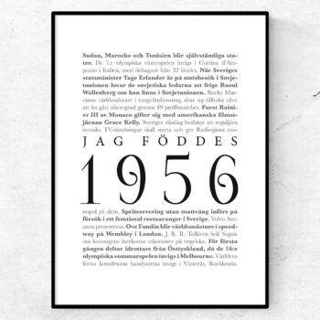 årtalsposter 1956 poster