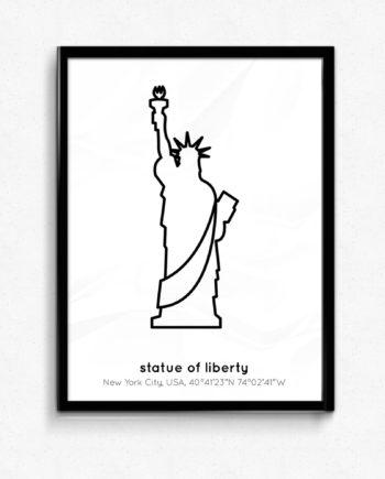 new york poster frihetsgudinnan