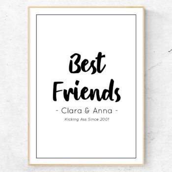 Best Friends kicking ass vän poster kompis