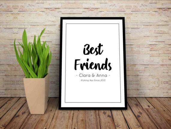 Best friends kicking ass vän poster kompis vänskap