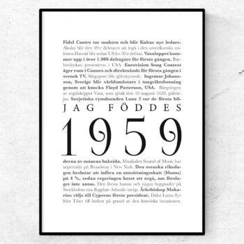 årtalsposter 1959 poster