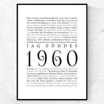 årtalsposter 1960 poster