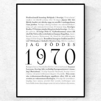 årtalsposter 1970 poster