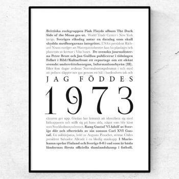 årtalsposter 1973 poster