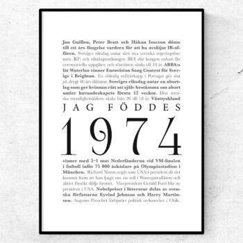 årtalsposter 1974 poster