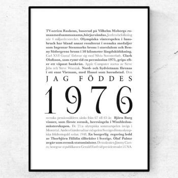 årtalsposter 1976 poster