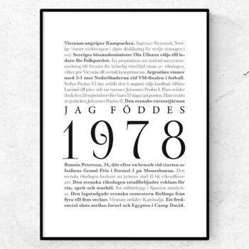 årtalsposter 1978 poster