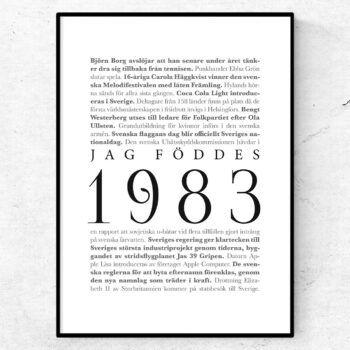 årtalsposter 1983 poster