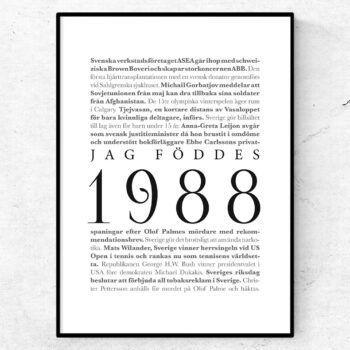 årtalsposter 1988 poster