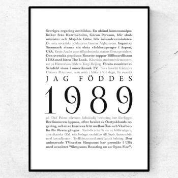 årtalsposter 1989 poster