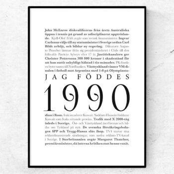 årtalsposter 1990 poster